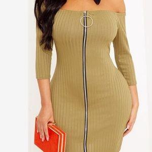 Pretty Little Thing Bardot Bodycon Dress